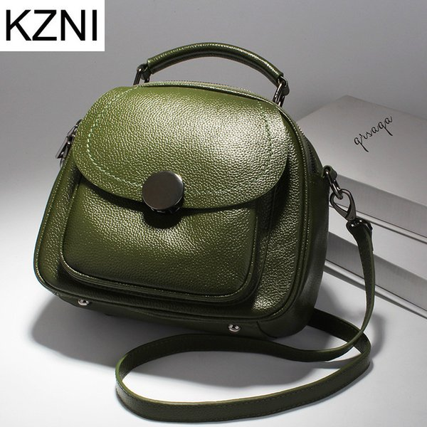 KZNI women genuine leather handbags European Style crossbody bags for women designer handbags high quality bolsos mujer L112507