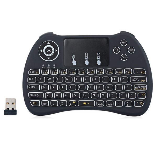 H9 Wireless Keyboard 2.4Ghz Qwerty Air Mouse Keyboard with Touchpad for Mini PC Smart TV Box Laptop