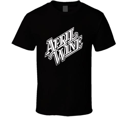 April Wine logo music band Black White tshirt men's T shirt free shipping