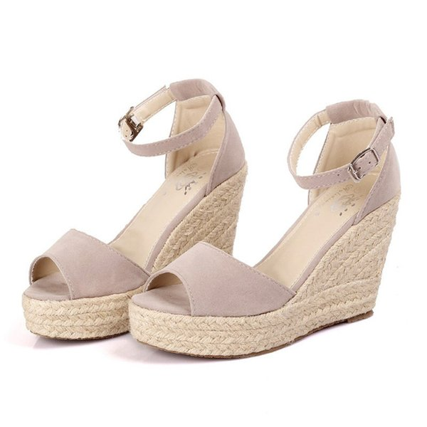 New Summer Women's Sandals Peep-Toe Shoes Woman 9CM/11CM High-Heeled Platfroms Casual Wedges For Women High Heels