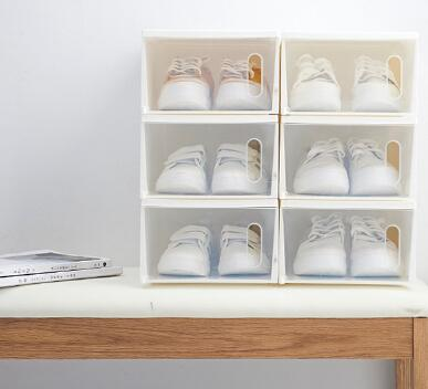 Clear Shoe Storage Boxes.2019 Japan Style Transparent Shoes Storage Box Creative Stackable Thickening Plastic Clear Shoes Organizer Dustproof Shoes Container From Margueriter
