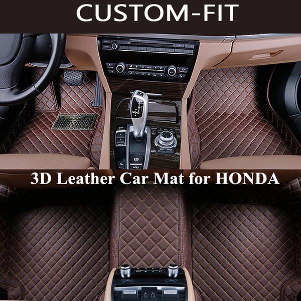top popular Custom Car Floor Mats for HONDA CRV ACCORD CIVIC JAZZ ODYSSEY FIT CITY HRV Carpet Tapetes Para Automovil Tapete Carro Alfombra Coche 2019