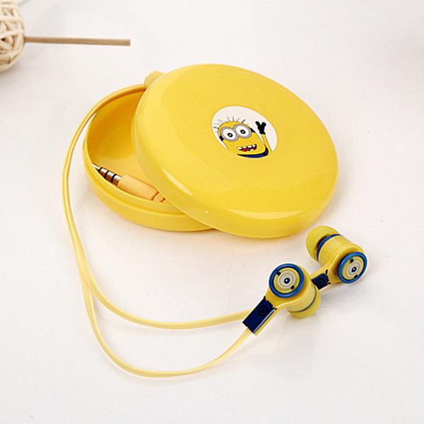 Fones de ouvido dos desenhos animados olá kitty doraemon mp3 em fones de ouvido com caixa de armazenamento para iphone samsung xiaomi