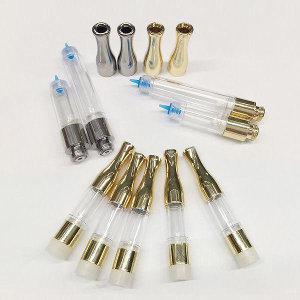 G2 Cartuchos de aceite Cartuchos de Vape Metal Drip Tip 0.5ml 1ml PC Atomizador Vaporizador Wick Coils 510 Desechables Vape Pens E Cigarrillo Vape
