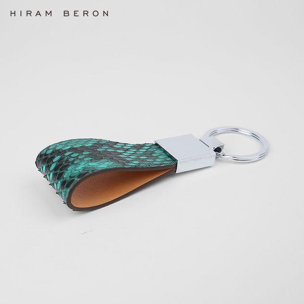 Hiram Beron Key Hanger Organizer Snake Skin Car Keychain Genuine Leather Bag Accessories