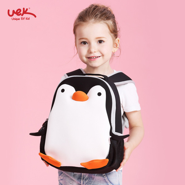 Cartoon Penguin School Backpacks Bags Kids Children School Bags for Baby Girls Boy Waterproof Kindergarten Primary Bookbag