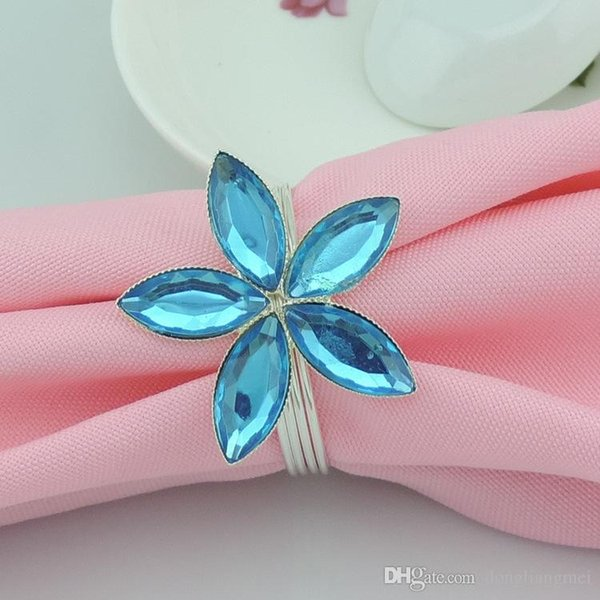 hot sell New flower Imitation crystal Napkin Rings for wedding dinner,showers,holidays,Table Decoration Accessories wn552