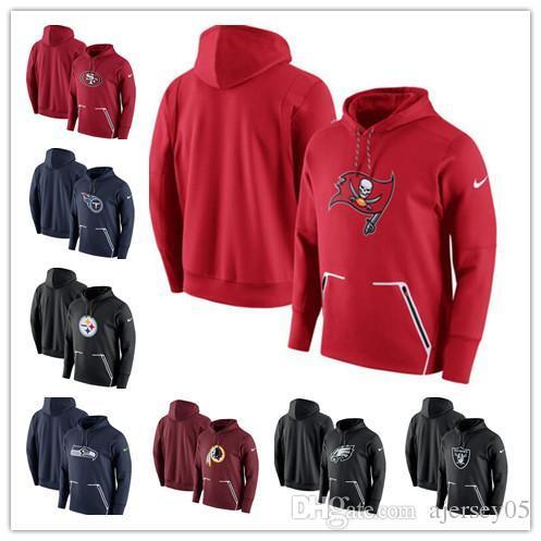 Herren Eagles Raiders Steelers 49ers Seahawks Titan Redskins Buccaneers Champ Drive Dampfgeschwindigkeit Hoodie Sweatshirt
