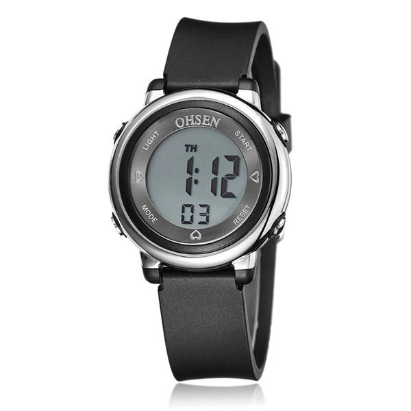 OHSEN 1605 Fashion Kid Sports Watches Waterproof Children Jelly LED Digital Watch Girls Boys Multifunction Clock