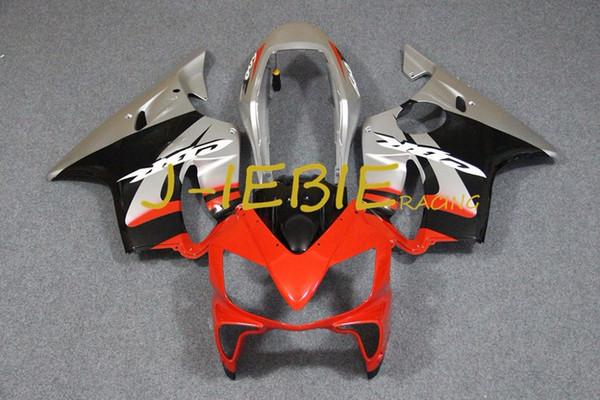 Red silver black Injection Fairing Body Work Frame Kit for CBR600 CBR 600 CBR600F F4I 2004 2005 2006 2007
