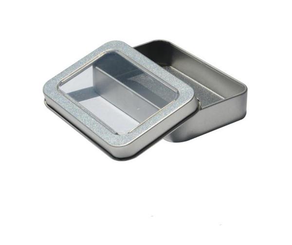 DHL Free shipping open window Metal Storage Boxes with sponge Storage Box, Vintage Metal case 8.8*6*1.7cm SN793