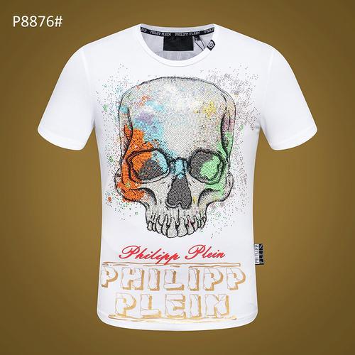 SWENEARO Camisetas de los hombres Moda Animal Impreso Phillip Llanura Divertido camiseta del cráneo Hombres Verano Casual calle Hip-hop Camiseta Hombre Tops 3XL