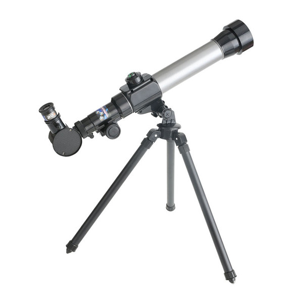 best selling 20X~40X Children Astronomic Tripod Telescope with Compass Search Stars Moon Observed Universe Lab Instruments Science Educational Kids Toys