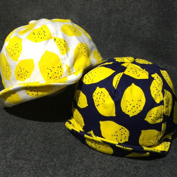 Compre Limón Sombreros Del Sol Para Bebés Y Niñas Algodón ...
