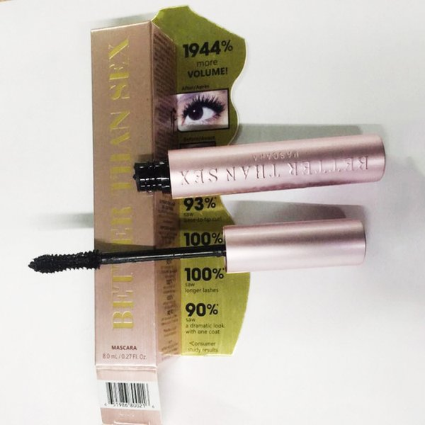 best selling Brand New Volume Mascara Rose gold Better Than Sex Mascara Makeup LASH Mascara black Waterproof DHL Free shipping