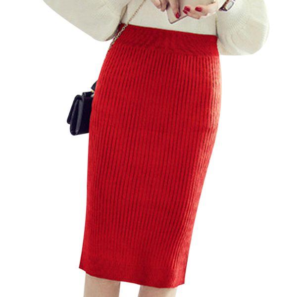 premium selection f92d0 33680 Acquista Gonne Lunghe Invernali Vintage Donna Gonna Longuette In Lana A  Vita Alta Office Lady Bodycon Gonne Saias Al Ginocchio Jupe A4 A $19.62 Dal  ...