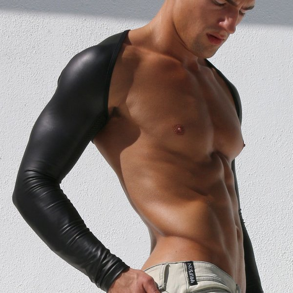 Pu Patent Leather Cuff Leather Men's Sexy Underwear Tight Wild Dance Pole Dance Clothing Club Performance Tights K72