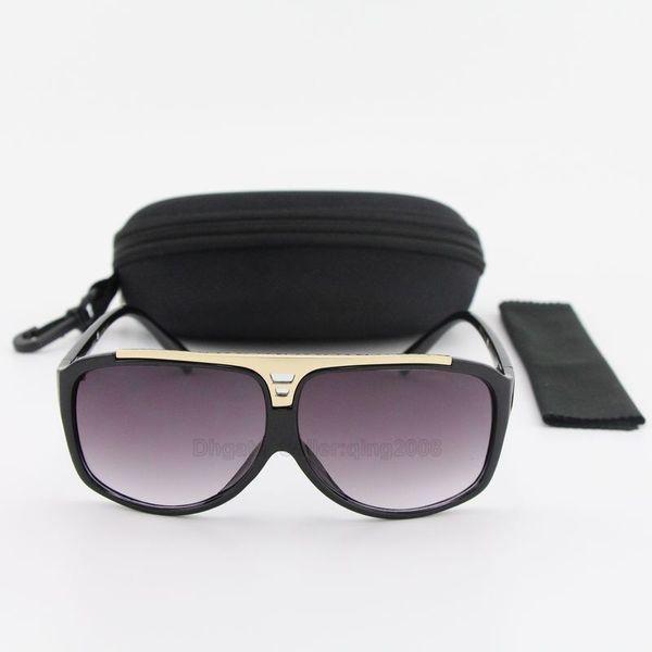 1pcs New Mens Womens Brand Sunglasses Evidence Sun glasses Designer Polished Black Gold Frame Glasses Eyewear Come With Box