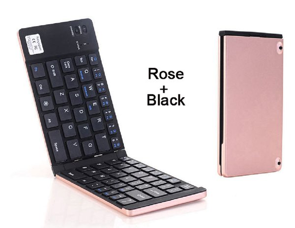 2018 Ultra slim Mini Foldable Bluetooth Wireless Keyboard Rechargeable Keyboards For Smartphone Tablets Laptop For Android Windows iOS
