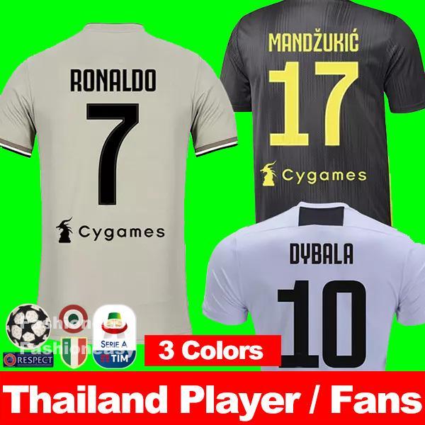 87e3eadd1 Thailand AAA RONALDO 18 19 Juventus soccer jerseys football shirt champion  2018 2019 DYBALA PJANIC MATUIDI
