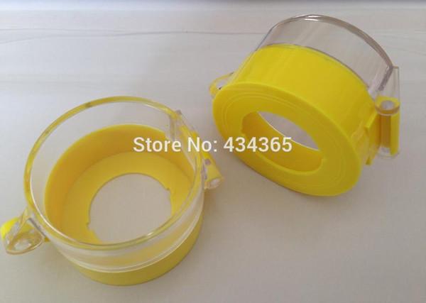 10 unids 30 mm de parada de emergencia interruptor de protección interruptor de botón puede candado interruptor de botón amarillo cubierta de polvo 55x36.2 mm