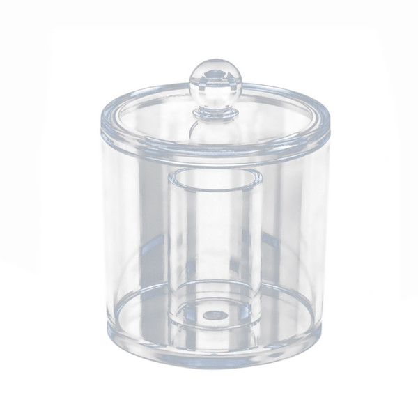 Transparent Cotton Ball and Swab Dispenser Acrylic Round Container Cosmetic Cotton Pads Holder Swab Jar Makeup Organizer