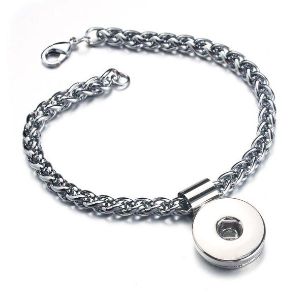Boom Life Edelstahl Druckknopf Armband Armreifen Karabinerverschluss Armband Modeschmuck Fit 18mm Druckknopf 8229