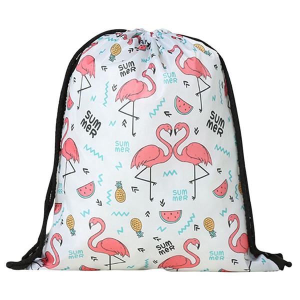 2018 nuovo carino fenicottero modello unicorno sport borse nuoto borse palestra pompa borsa sportiva coulisse ragazzo ragazza all'aperto vendita calda