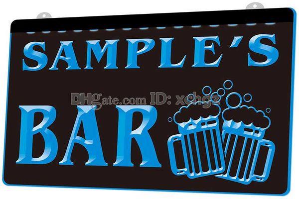 [F589] Nom Personnalisé Bar Bière Chope Verre Pub NOUVELLE Gravure 3D Signe de Lumière LED Personnaliser à la Demande 8 couleurs