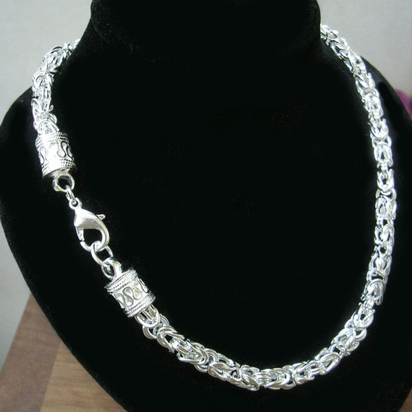 collier homme chaine argent