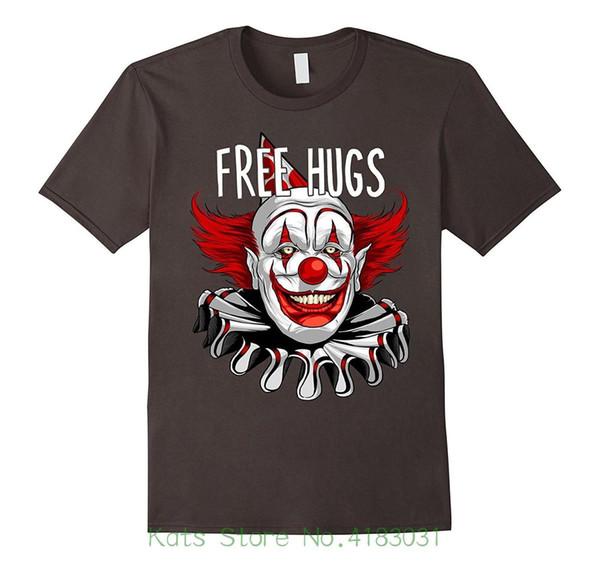 Dia das Bruxas Livre Abraços Assustador Assustador Palhaço Gráfico T shirt Nova Moda Dos Homens T-shirt das mulheres