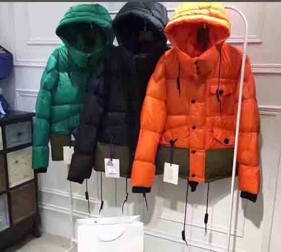Classique Hiver Vert Orange Bleu Doudounes Zipper Manteaux Mon Hommes Veste Réel 90% DUCK DOWN COATS hiver épais et Parka Anorak veste