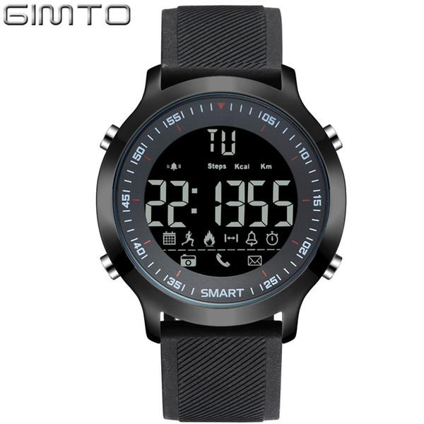 GIMTO Brand Men Sport Watch Digital LED Cronometro Impermeabile Orologio da polso con orologio Pedometro Smartwatch Relógios