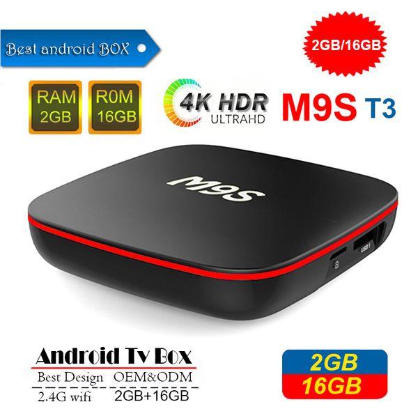 2019 M9S T3 Android TV Box Allwinner H3 Quad Core 1GB 8GB 2GB 16GB 4K H.265 1080P Video Streaming IPTV TV Boxes Better A95X TX3 H96 S905W
