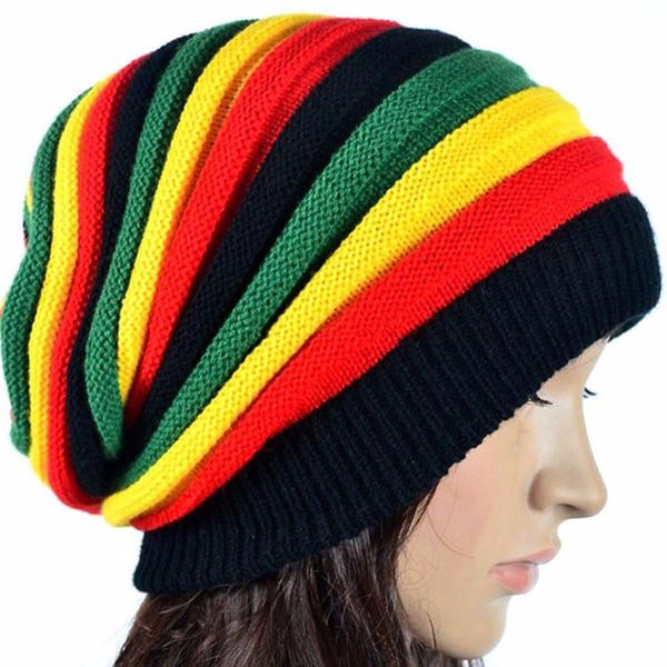 Compre Gorro Holgazaneo De Punto De Mujer Jamaicana Rasta Hat Gorros ...