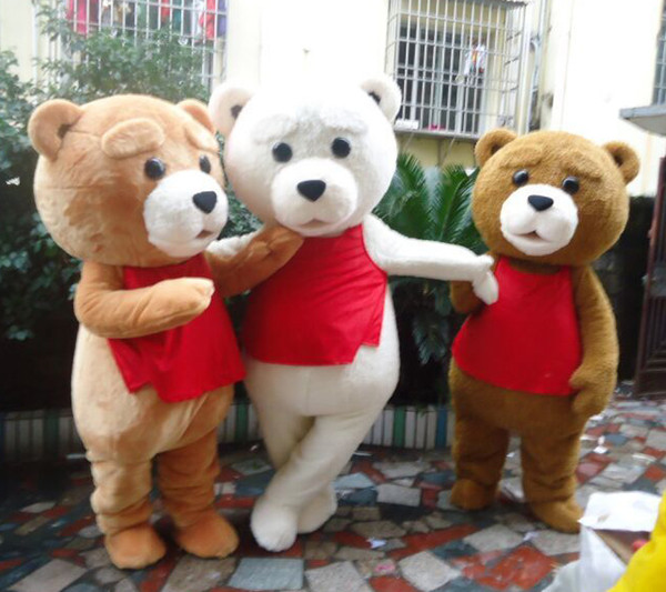 2018 Teddy Bear Mascot Costume Teddy Costume Adult Fancy Dress Clothing Halloween Party Suit Funny Animal Bear Halloween Costume 15 Style