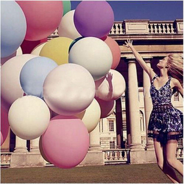10 Pcs Colorful blow up 36 Inches Balloon Ball Helium Inflable Big Latex Balloons For Party Decoration