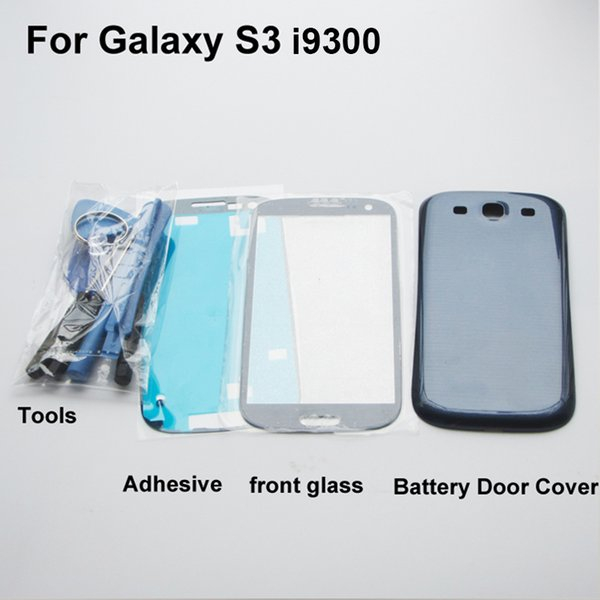 RYWILL Full Housing Case Ersatz Ersatzteile für Galaxy S3 i9300 Batterie rückseitige Cover + Frontglas + Werkzeuge Aufkleber