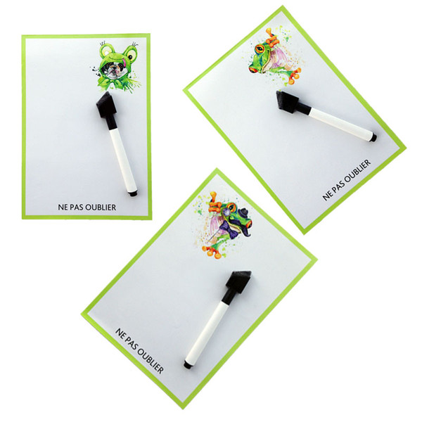 fridge magnet for kids The frog printed Dry Erase Flexible Magnetic Whiteboard/Message board/Memo Pad/Dialog Box Magnet