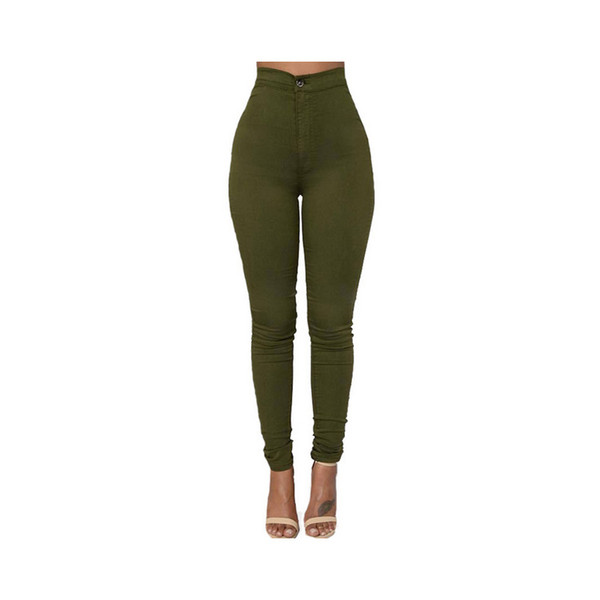 best selling Fashion High Quality Multicolor Women Skinny Jeans High Waist Pencil Stretch Casual Look Elasticity Women Jeans Clothing