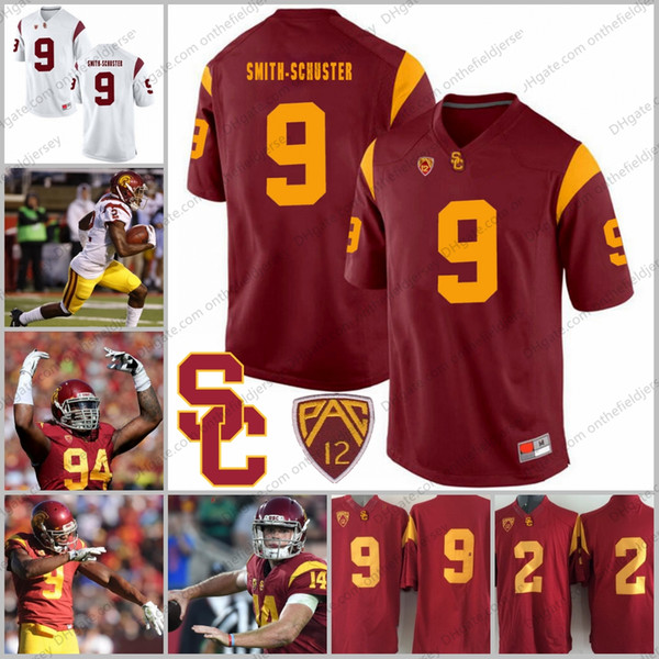 best sneakers 21f67 dfcbc 2019 USC Trojans #9 JuJu Smith Schuster 2 Adoree' Jackson 94 Leonard  Williams 43 Troy Polamalu Red White NCAA College Football Jerseys S 3XL  From ...