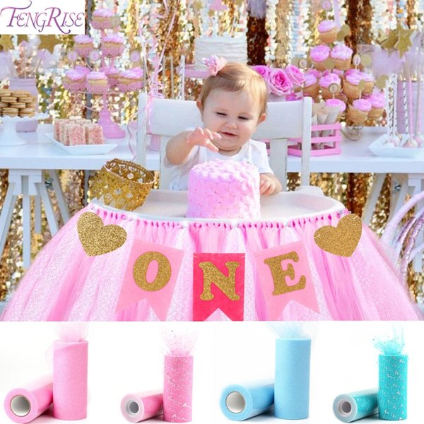 FENGRISE First Birthday Party Decoration 1st Birthday Flags Chair Banner I AM ONE Bunting Baby Shower One Year Old New Born