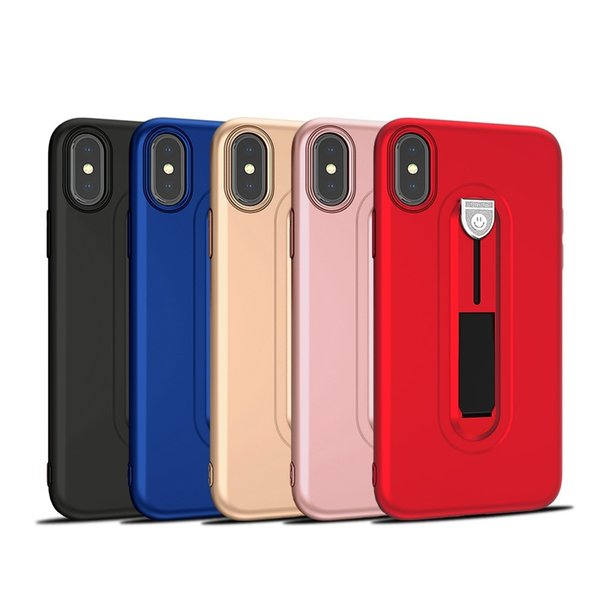 Sports Car Driveway Cover TPU Soft Combo with Invisible Kickstand Holder Smile Phone Case For iPhone XS Max X 7 8 6 6S plus samsung S9 S8 S7