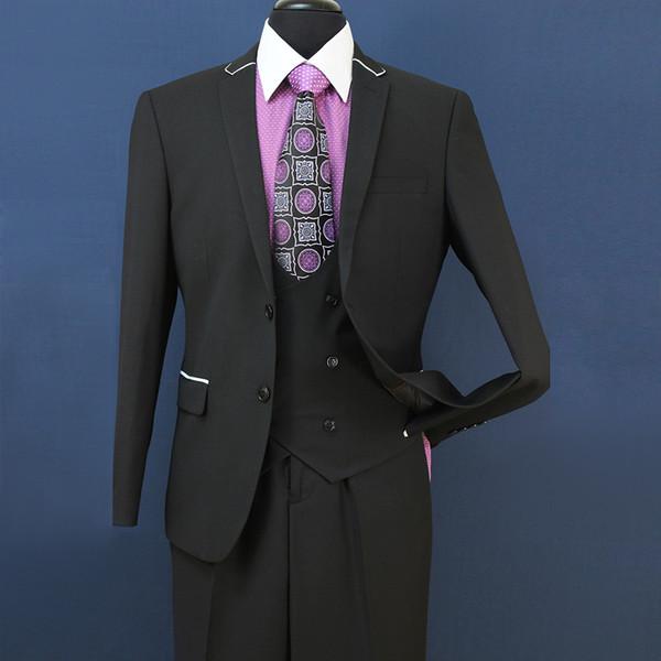 2018 New Smoking Slim Fit Groomsmen Grigio chiaro Sfiato laterale Matrimonio Best Man Suit Tute da uomo 3 pezzi (Jacket + Vest + Pants) ST008
