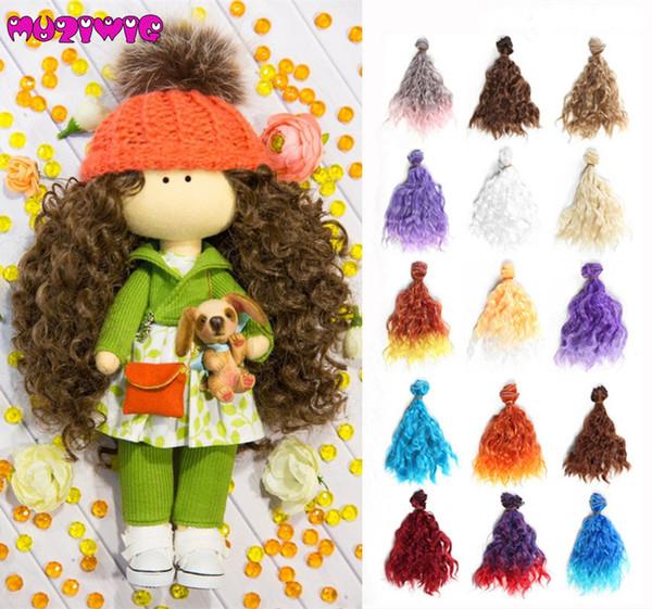 1pcs 15*100cm High Temperature Fiber Fashion Imitation Wool Roll Doll Hair Wefts for DIY 1/3 1/4 1/6 BJD SD Doll Wigs