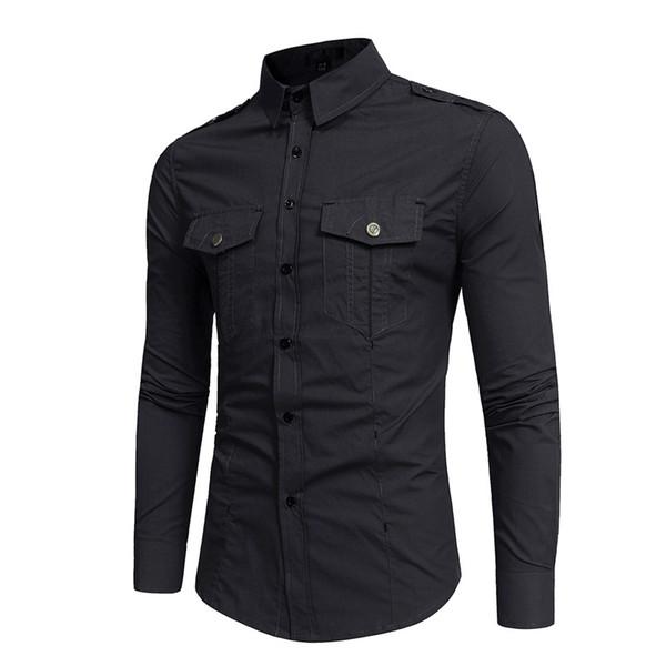 Siyah Kargo Gömlek