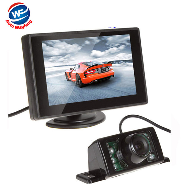 Car HD Video 7LED Auto Parking Monitor 4.3 inch Car Mirror Monitor With Reversing Car Rear View backup Camera Night Vision