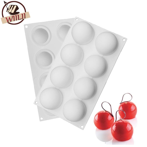 1pcs Silicone Round Ball Shape Non -Stick Truffles Chocolate Mold For Fondant Soap Jelly Pudding Candy Mould Cake Decorating Tool