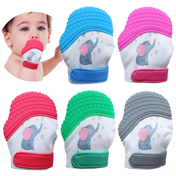 DHL Silicone Teether Baby Pacifier Glove Teething Glove Newborn Nursing Mittens Teether Chewable Nursing Beads for Infant Baby
