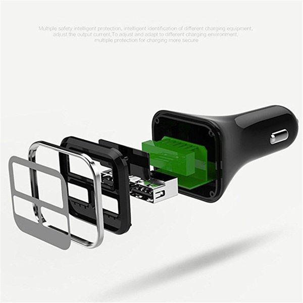 4.8a usb chargeur de voiture ipad ipad tablet pc affichage à LED chargeur rapide chargeur de téléphone portable monté sur véhicule